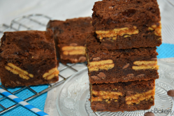brownie con galletas de limon